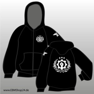 Hooded - Zipper -  EBM Clenched Hand XL