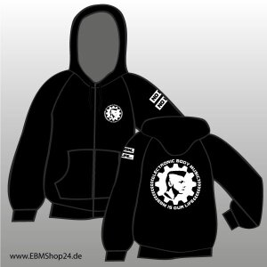 Hooded - Zipper -  EBM IS OUR LIFE XL