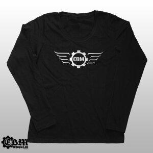 Girlie Longsleeve - EBM-Wings Silver XL