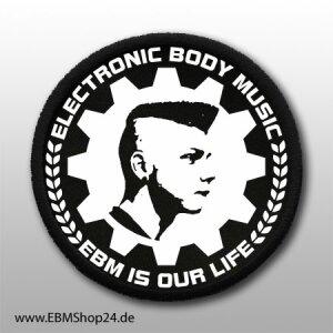 Aufnäher EBM IS OUR LIFE aufnähen &...