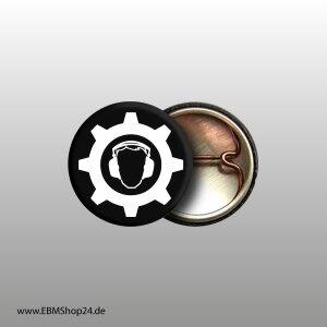 Button Industrial Weiß