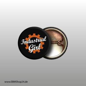 Button Industrial Girl Weiß