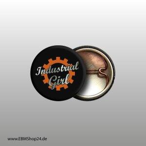 Button Industrial Girl Silver