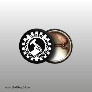 Button EBM Wings II Weiß