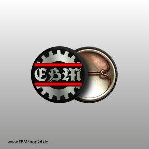 Button EBM Silver