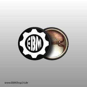 Button EBM Eagle Circle White