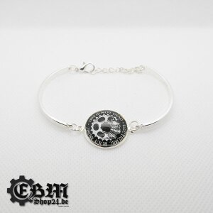Armband - EBM IS NOT DEAD - Silber