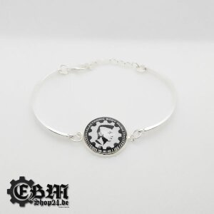 Armband - EBM IS OUR LIFE - Silber
