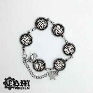 Armkette - EBM - Scratched Star - Silber