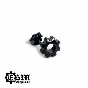 Ohrstecker - Gear - Black 925 Silber
