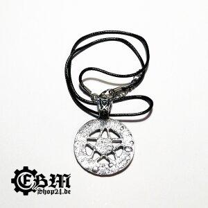 Halsband - Pentagram with black stones