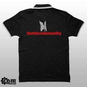 Gothiccommunity - Polo - mit Rückendruck