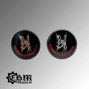 Button Gothiccommunity Silber